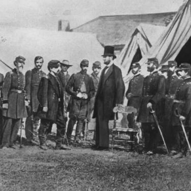 Mr. Lincoln's Soldiers Muster in Dover Photo
