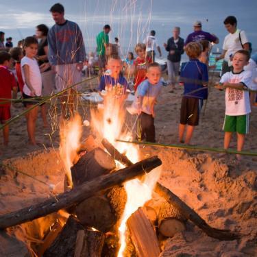 Bonfires at Dewey Beach Photo
