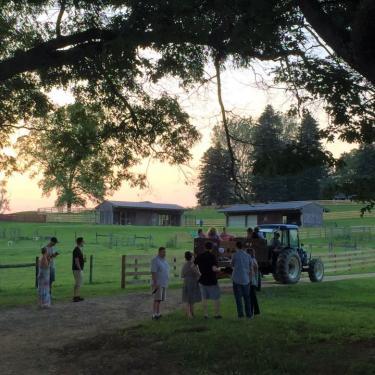 Hayrides at Coverdale Farm Preserve Photo