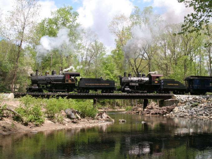 Mt. Cuba Meteor at the Wilmington & Western Railroad Photo